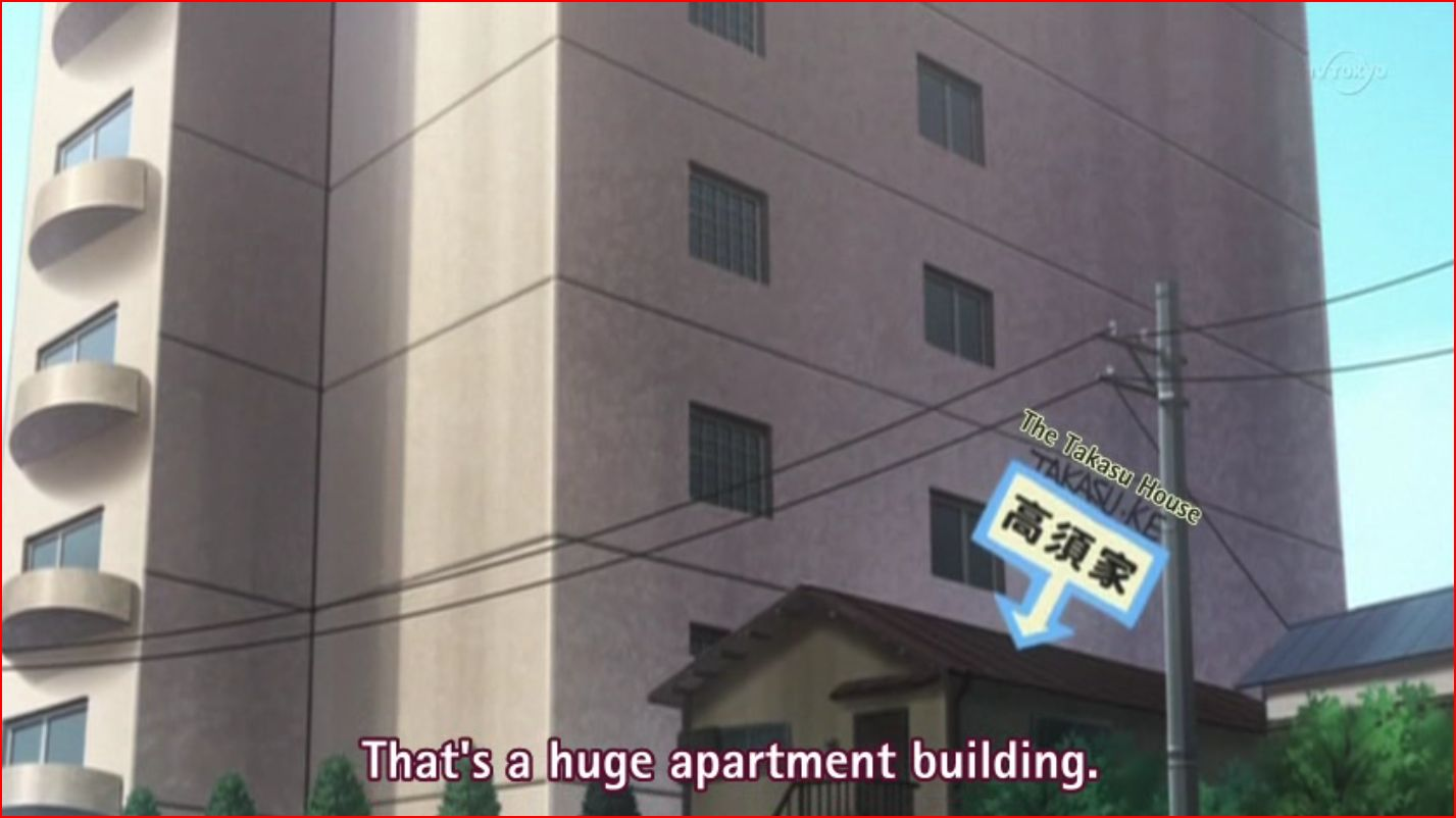 Japanese Appartment Buildings with Street (Toradora) Minecraft Map